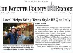 The Fayette Country Record Brisket Milano